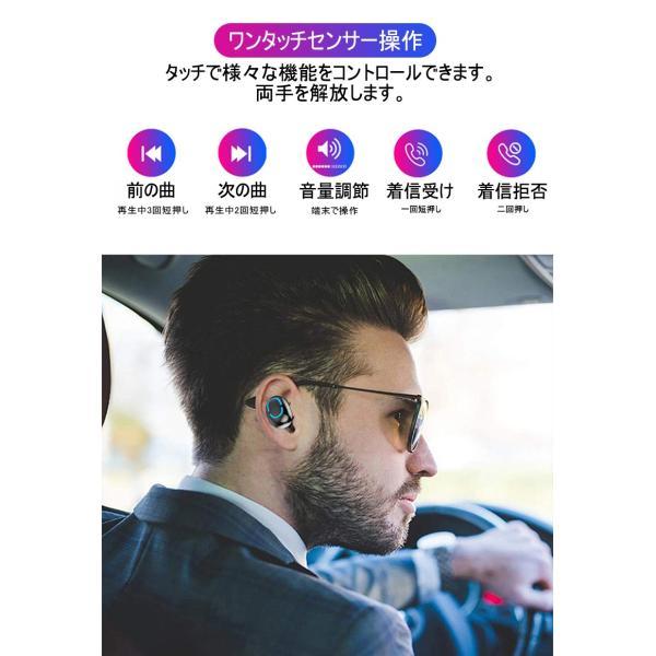 ワイヤレスヘッドセット Bluetooth5.0 イヤホン ワイヤレスイヤホン 日本語音声案内 2200mAh充電ケース 防水 自動ペアリング 両耳 左右分離型 ノイキャン TWS|meiseishop|08