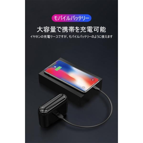 ワイヤレスヘッドセット Bluetooth5.0 イヤホン ワイヤレスイヤホン 日本語音声案内 2200mAh充電ケース 防水 自動ペアリング 両耳 左右分離型 ノイキャン TWS|meiseishop|10