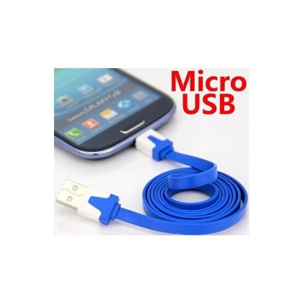 赤字販売【頑丈なフラット:断線しにくい】micro usb MICRO-USB 充電ケーブル アンドロイド スマートフォン【お色指定不可】|meitsu3|02