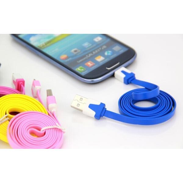 赤字販売【頑丈なフラット:断線しにくい】micro usb MICRO-USB 充電ケーブル アンドロイド スマートフォン【お色指定不可】|meitsu3|03