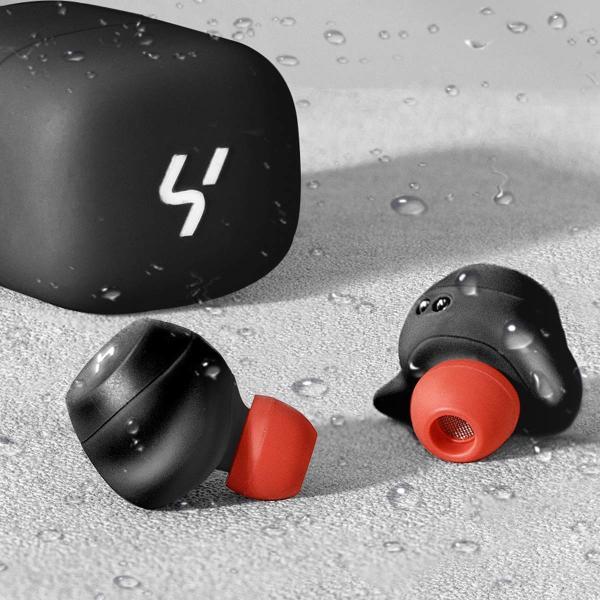 HAVIT「Bluetooth 5.0 」Bluetooth イヤホン完全ワイヤレスイヤホン AAC対応/Siri対応/IPX5防水規格/最大18時間音楽再生/高音質チタンドライバー搭載 G1黒+赤 mejapon 05