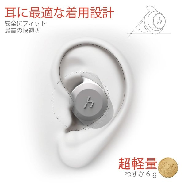 HAVIT「Bluetooth 5.0 」Bluetooth イヤホン完全ワイヤレスイヤホン AAC対応/Siri対応/IPX5防水規格/最大18時間音楽再生/高音質チタンドライバー搭載 G1黒+赤 mejapon 06