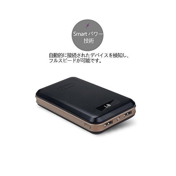 iMuto 20000mAh モバイルバッテリー 大容量 急速充電 スマートデジタルスクリーン iPhoneX 各種スマホ 等対応 ブラック|mejapon|03