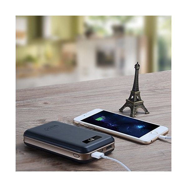 iMuto 20000mAh モバイルバッテリー 大容量 急速充電 スマートデジタルスクリーン iPhoneX 各種スマホ 等対応 ブラック|mejapon|06