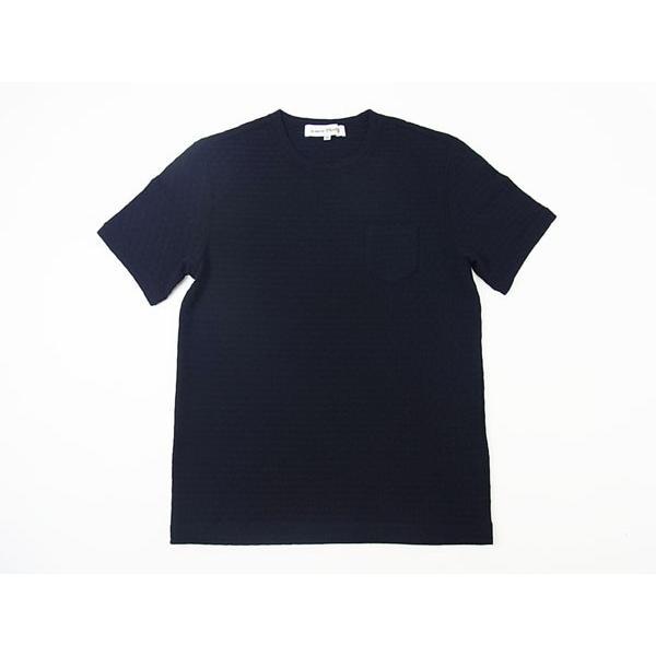 【50%OFF】La cresta del DRAGONE ドラゴーネ ワッフル編み風 ポケットTシャツ カットソー 半袖 クルーネック ネイビー 紺 メンズ 紳士服 日本製|mejiroleacca|05