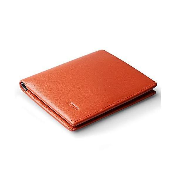 一流の革職人が作る薄型財布メンズ二つ折り本革薄い小さい紳士2つ折り財布ビジネスマンの牛革小型小銭入れコンパクト(オレンジ)