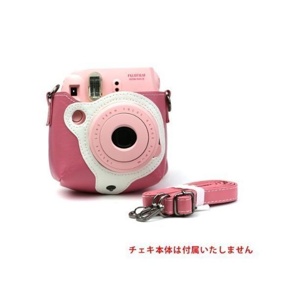 チェキ instax mini8 専用速写ケース (ピンク)