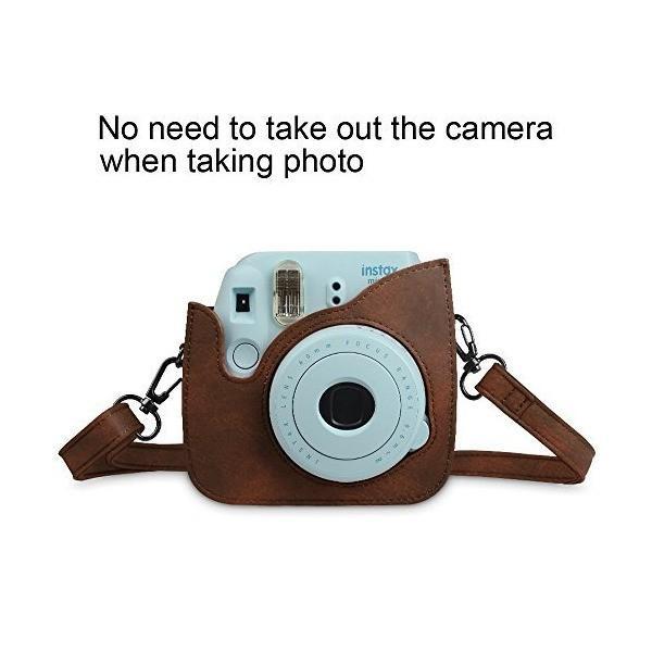 Fintie FUJIFILM インスタントカメラ チェキ instax mini 9/mini 8/mini 8プラス 専用カメラケース カメラバ
