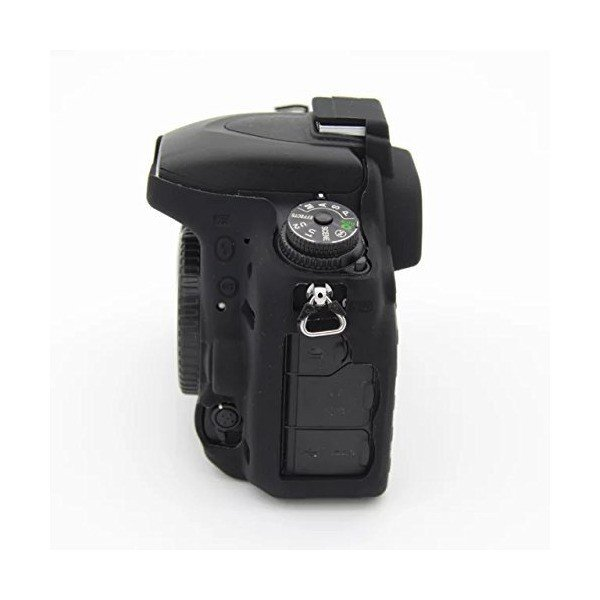 kinokoo Nikon デジタル一眼レフカメラ D750専用 シリコンカバー  カメラケース カメラカバー (ブラックA)