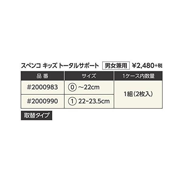 スぺンコ(Spenco) 子供用 インソール キッズ トータルサポート 男女兼用 取替タイプ 2000990 サイズ1(22~23.5cm)