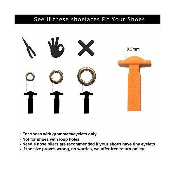RJ-Sport ゴム製結ばない靴紐 スニーカー 伸びる靴紐 ほどけない 簡単取り付け 靴紐が解けてイライラを解消 脱ぎ履きが楽々 子供から高齢者ま