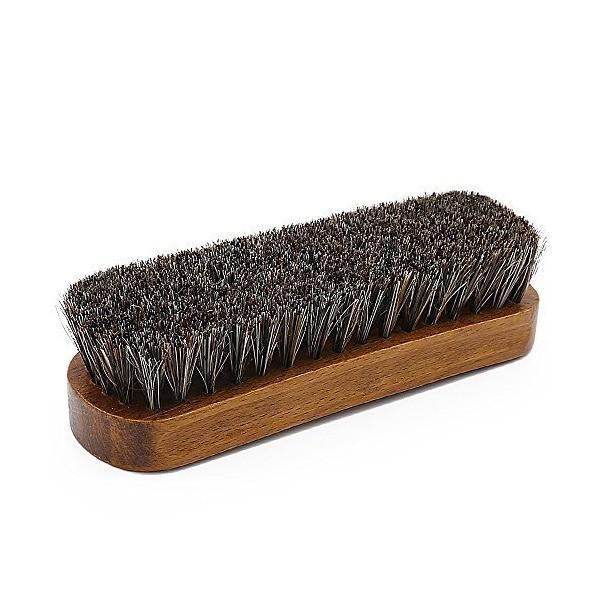 Coolli 馬毛ブラシ 靴磨き ブラシ 革物 ブラッシング ホコリ落とし 汚れ落とし 100%天然馬毛 靴用ブラシ レザーケア 革製品のお手入れに