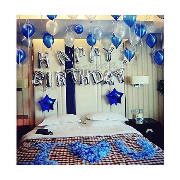 誕生日 飾り付け 風船、Happy Birthday バルーン、パーティー 装飾 風船、バースデー 飾り バルーン HB7S|mekoda-store