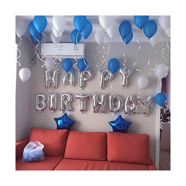 誕生日 飾り付け 風船、Happy Birthday バルーン、パーティー 装飾 風船、バースデー 飾り バルーン HB7S|mekoda-store|06