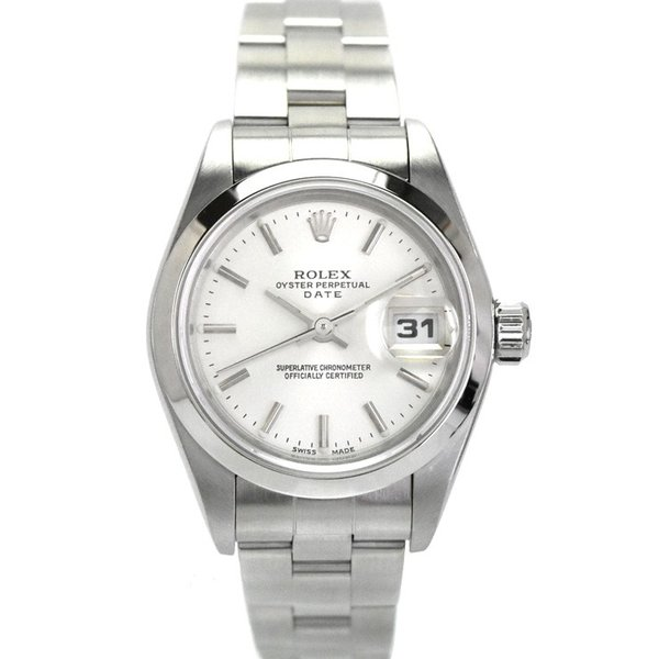 newest collection d34f4 ef625 ロレックス オイスターパーペチュアルデイト レディース 腕時計 自動巻き SS シルバー文字盤 79160 K番 ROLEX