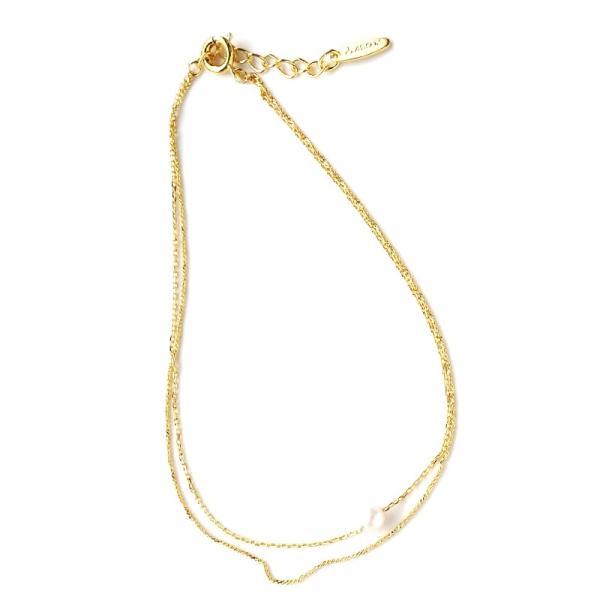 アンクレット レディース パール 真珠 1粒 華奢 おまとめ買い 送料無料 ak-n16
