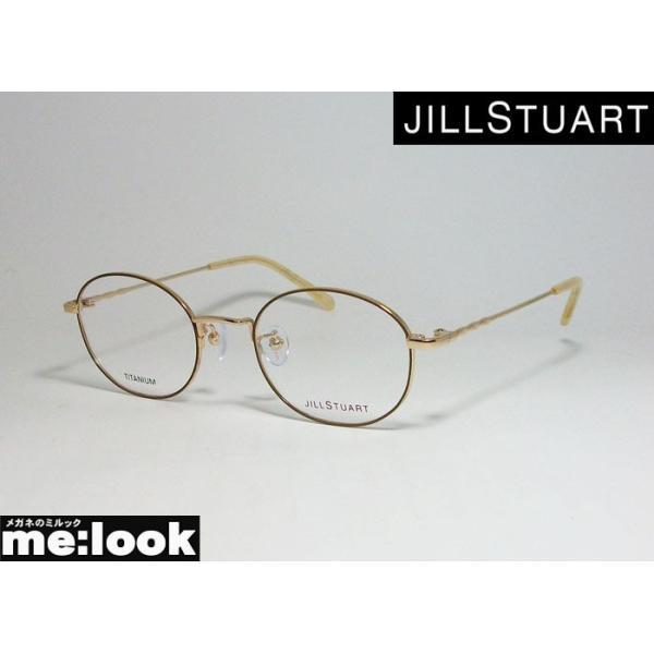 JILL STUART ジルスチュアート レディース 眼鏡 メガネ フレーム 05-0228-3 サイズ48 ブラウン ゴールド