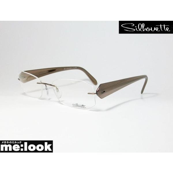 Silhouette シルエット メガネ フレーム 軽量 メガネ フレーム 6698-6050 サイズ52ブロンズ 縁なし
