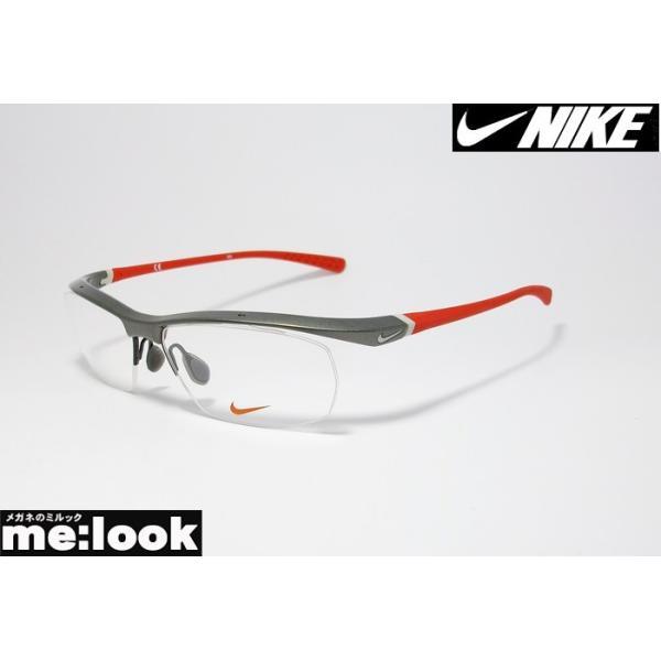 NIKE ナイキ VORTEX ボルテックス 軽量 スポーツ 眼鏡 メガネ フレーム 7070/3-024-57 度付可 ガンメタ/レッド