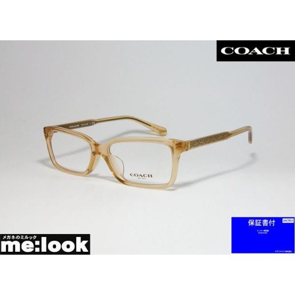 COACH コーチ クラシック オーバル レディース 眼鏡 メガネ フレーム HC6145F-5561-53 度付可 トランスペアレント シャンパーニュ クリアライトブラウン