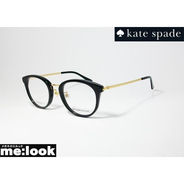 kate spade ケイトスペード レディース クラシック ボストン 眼鏡 メガネ フレーム IRMA/F-807 サイズ49 度付可 ブラック ゴールド