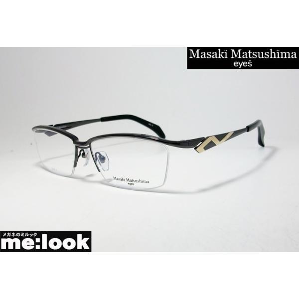 マサキマツシマ Masaki Matsusima 眼鏡 メガネ フレーム MF1228-3-58 度付可 ガンメタル・ゴールド