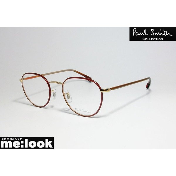 PAUL SMITH ポールスミス ボストン クラシック 眼鏡 メガネ フレーム PSE1002-GWR-48 度付可 ゴールド ワインレッド