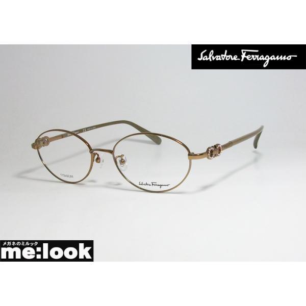 FERRAGAMO フェラガモ レディース 眼鏡 メガネ フレーム SF2555RA-705-52 度付可 ブラウン