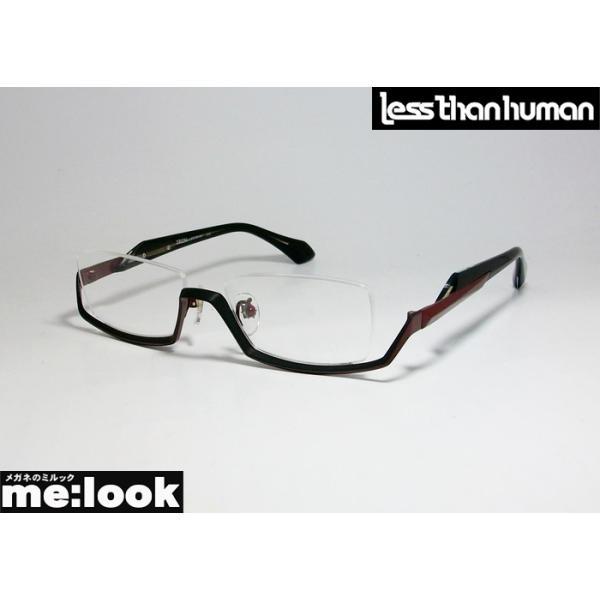 Less than human レスザンヒューマン 眼鏡 メガネ フレーム TRON-2101 サイズ51  度付可 マットブラック レッド 逆ナイロール