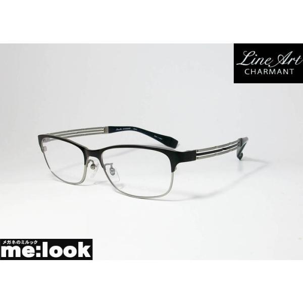 Line Art ラインアート 眼鏡 メガネ フレーム メンズ 最高のかけ心地 形状記憶 XL1496-BK-55 度付可 マットブラック グレイ