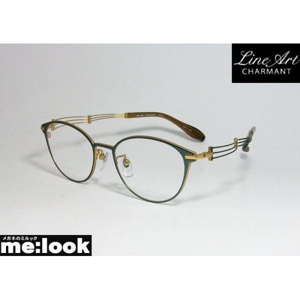 Line Art ラインアート 眼鏡 メガネ フレーム レディース 最高のかけ心地 形状記憶 XL1664-GN-49 度付可 ダークグリーン