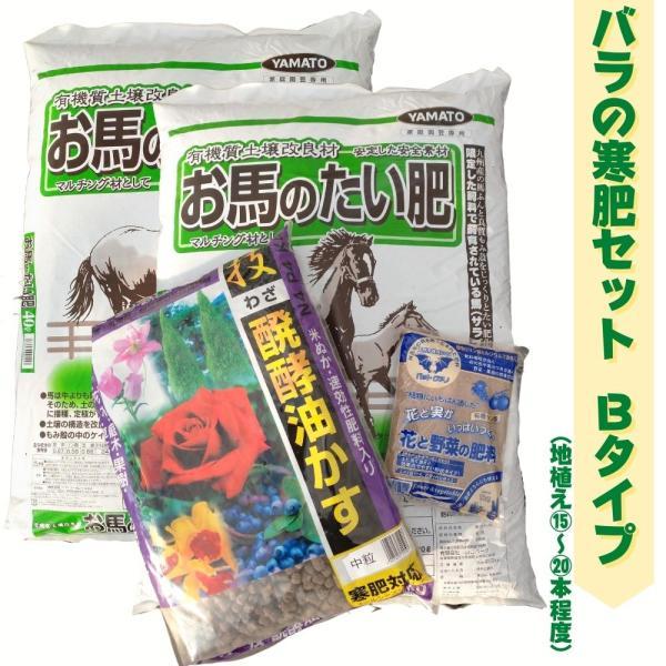 バラの寒肥 セット! Bタイプ お馬の堆肥 醗酵油かす バットグアノ が入ってます! 地植えで15~20本程度 送料無料