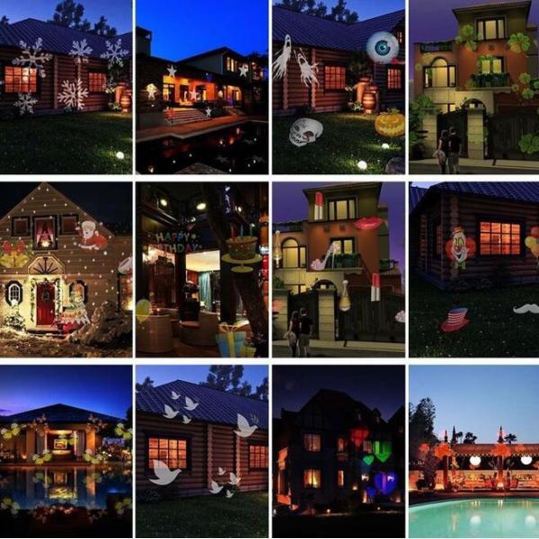レーザーランプ クリスマス ハロウィン イルミネーション 芝生室外庭用投影ライト 12種パターン交換可能 LEDランプ ステージランプ 照明 雰囲気 防水投影ランプ|melville|04