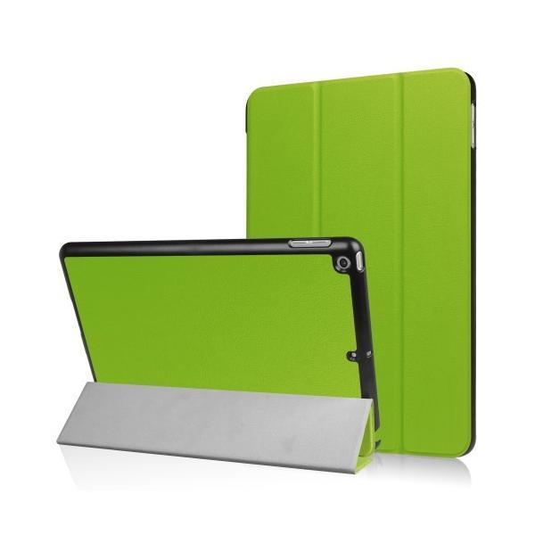 iPad 2017 レザーケース グリーン 液晶保護フィルム付き アイパッド2017 カバー 手帳型スタンド機能|memon-leather