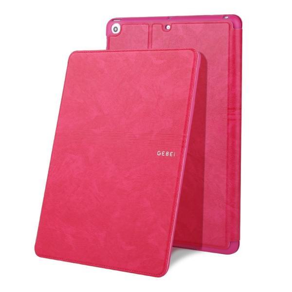 iPad 2017 レザーケース ローズ 液晶保護フィルム付き アイパッド2017 カバー 手帳型 スタンド機能 ICカードスロット|memon-leather