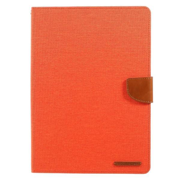 iPad 2017 レザーケース オレンジ 液晶保護フィルム付き アイパッド2017 カバー 手帳型 スタンド機能 ICカードスロット 札入れ memon-leather