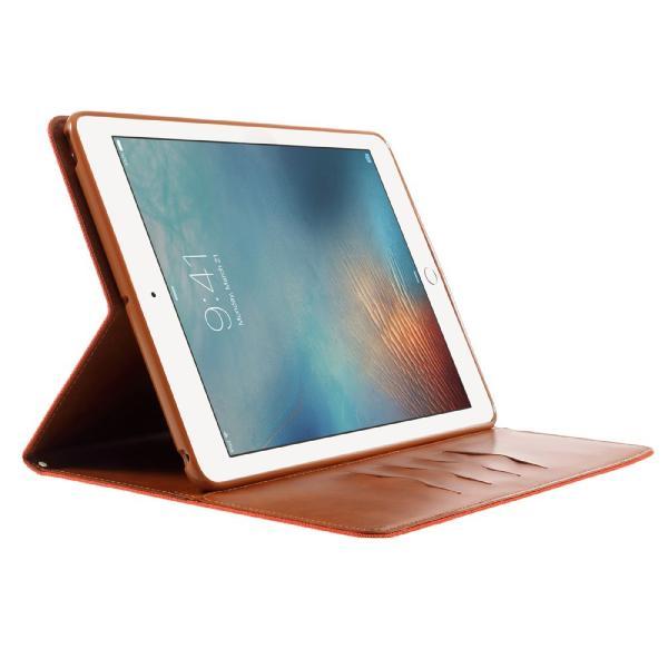 iPad 2017 レザーケース オレンジ 液晶保護フィルム付き アイパッド2017 カバー 手帳型 スタンド機能 ICカードスロット 札入れ memon-leather 04