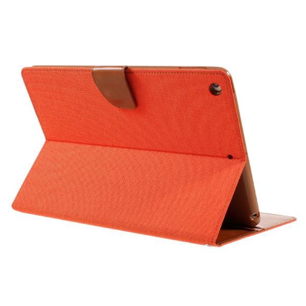 iPad 2017 レザーケース オレンジ 液晶保護フィルム付き アイパッド2017 カバー 手帳型 スタンド機能 ICカードスロット 札入れ memon-leather 05