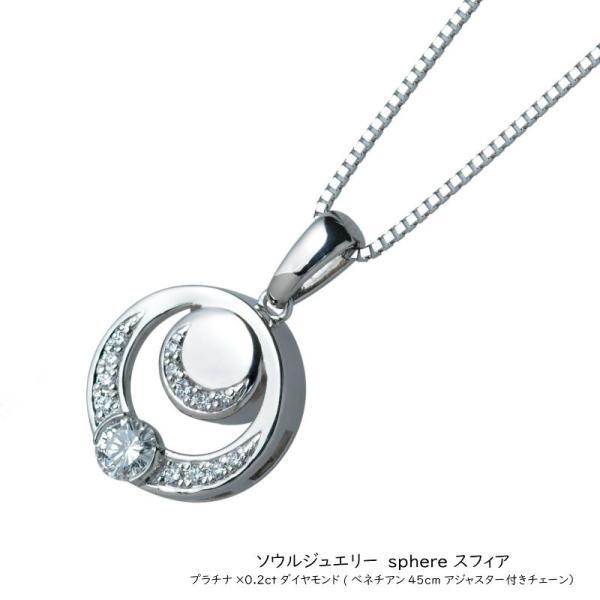[遺骨ペンダント・ソウルジュエリー] プラチナ&ダイヤモンドシリーズ スフィア 鑑定書付