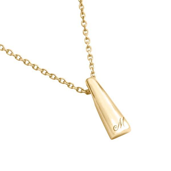 [遺骨ペンダント・樹脂タイプ完全防水] LP02-G (K18YG) イニシャルモデル