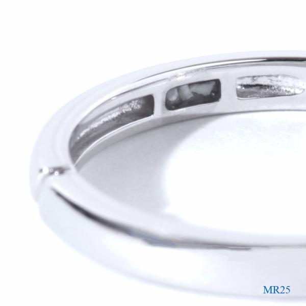メモリアルリングMR25 地金:K18PG (18Kピンクゴールド) 〜遺骨を内側にジェル封入する完全防水の指輪〜|memoriaareca|04