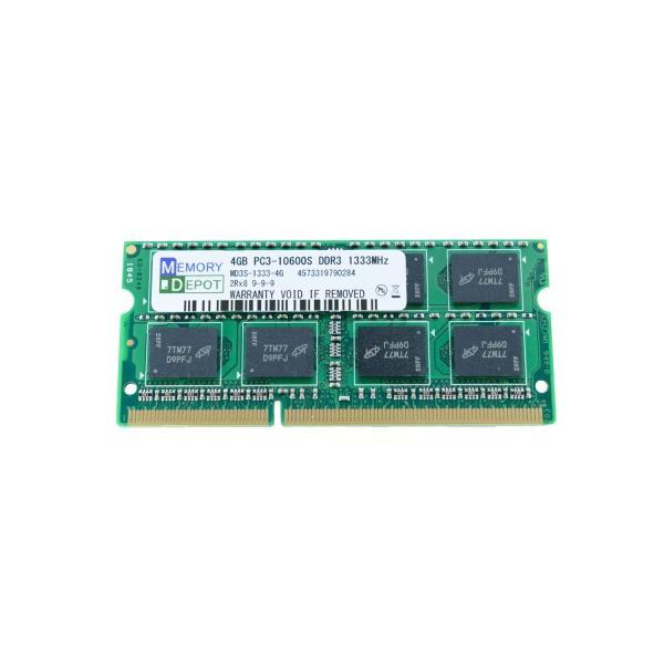 SODIMM 4GB PC3-10600 DDR3-1333 204pin SO-DIMM PCメモリー 相性保証付 (ゆうメール180円発送可)