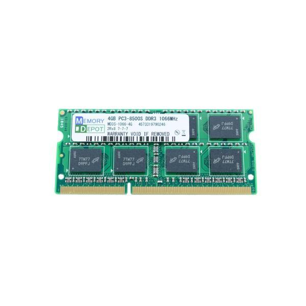 SODIMM 4GB PC3-8500 DDR3-1066 204pin SO-DIMM PCメモリー 相性保証付 (ゆうメール180円発送可)