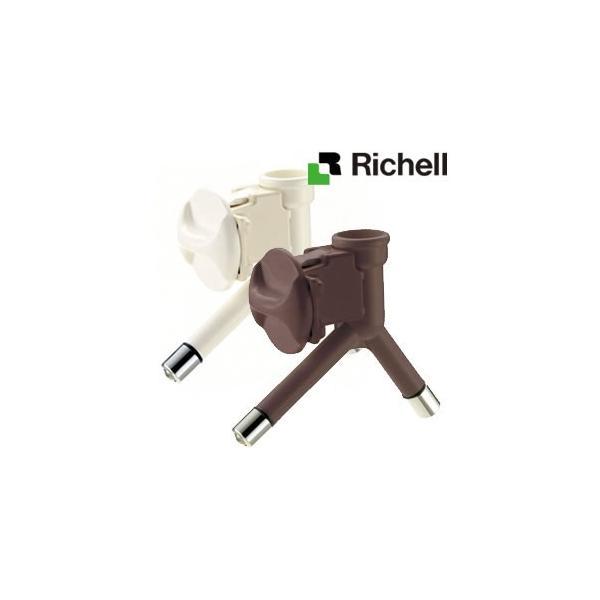 リッチェル ダブルウォーターノズル ホワイト/ブラウン(ケージやサークルに取り付けて、ペットボトルで簡単水分補給)