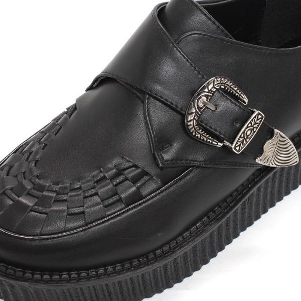 モンクストラップシューズ ラバーソール ベルト メンズ 靴 厚底 モカシン バンド メンズ UK ロック 対象商品2足の購入で9000円(税別)|mens-sanei|03
