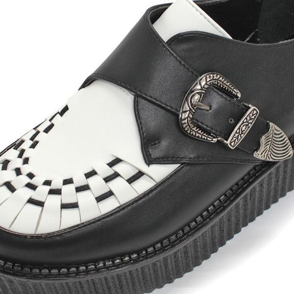 モンクストラップシューズ ラバーソール ベルト メンズ 靴 厚底 モカシン バンド メンズ UK ロック 対象商品2足の購入で9000円(税別)|mens-sanei|04