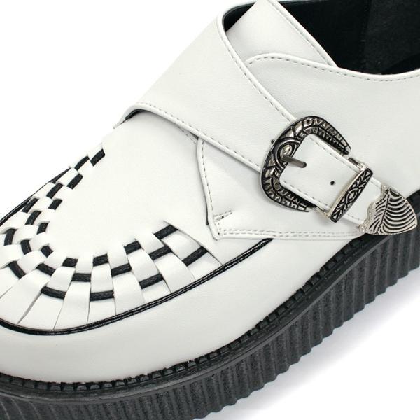 モンクストラップシューズ ラバーソール ベルト メンズ 靴 厚底 モカシン バンド メンズ UK ロック 対象商品2足の購入で9000円(税別)|mens-sanei|05