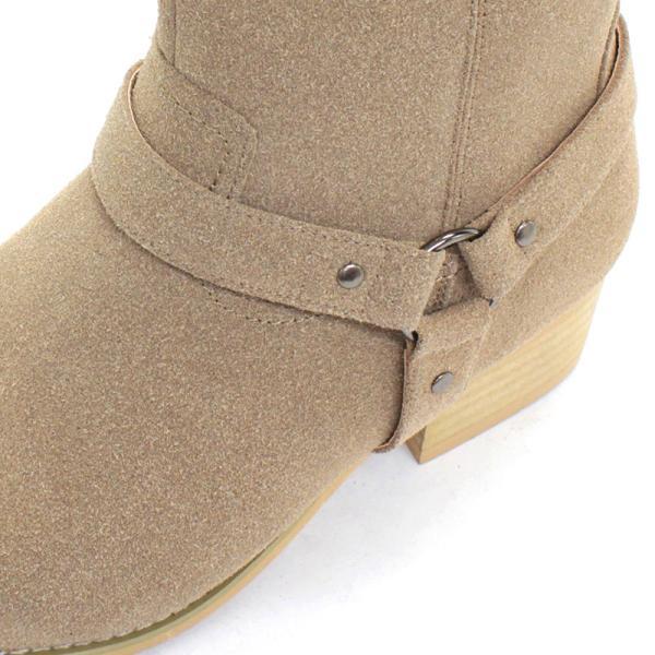 リングブーツ エンジニア レザー スェード 紳士靴 メンズ ロング ビター系 BITTER 大人 上品 キレイめ|mens-sanei|03