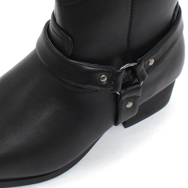 リングブーツ エンジニア レザー スェード 紳士靴 メンズ ロング ビター系 BITTER 大人 上品 キレイめ|mens-sanei|04