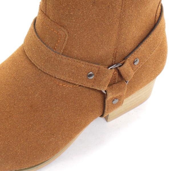 リングブーツ エンジニア レザー スェード 紳士靴 メンズ ロング ビター系 BITTER 大人 上品 キレイめ|mens-sanei|06